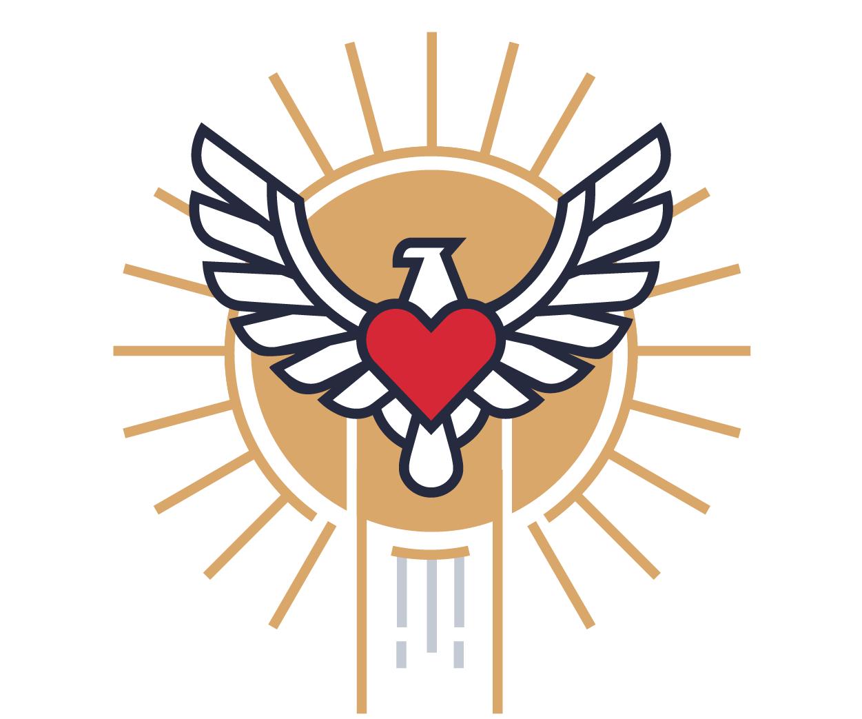 Illustration: SVA eagle soaring in front of sun